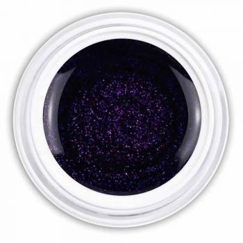 Farbgel power blue glitter
