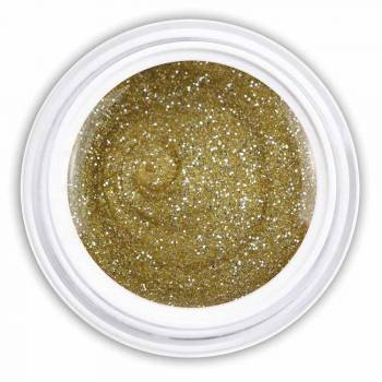 Farbgel bright gold glitter