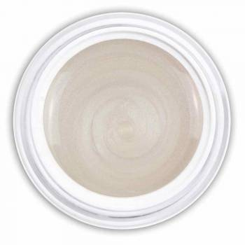 Farbgel ivory white metallic