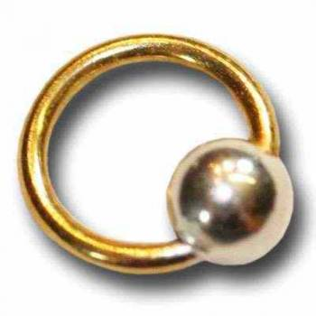 Nail-Piercing Ring, Nagelpiercing gold / silber