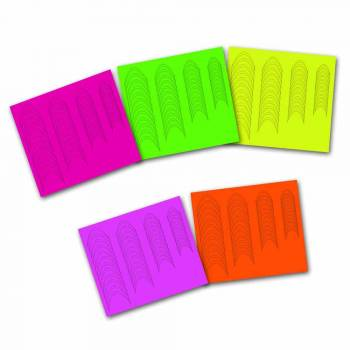 "Neon French Sticker Set ""Dramatic Smile"""