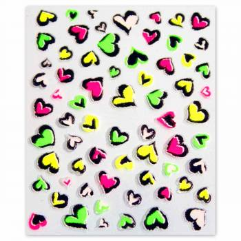 Sticker Neon Lovely Hearts