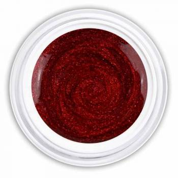 Farbgel wine red glitter
